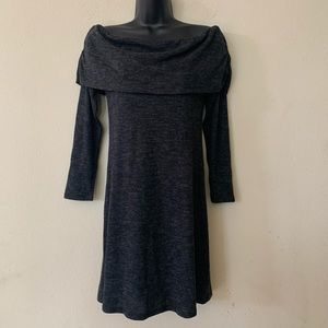 Veronica M Charcoal Grey Off The Shoulder Dress
